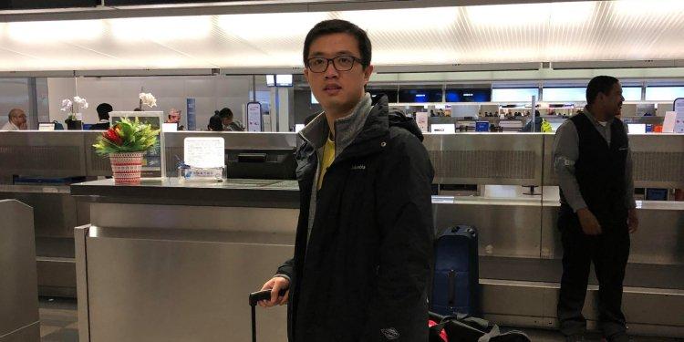 Leo Wang leaving the U.S. for China. Courtesy of Leo Wang