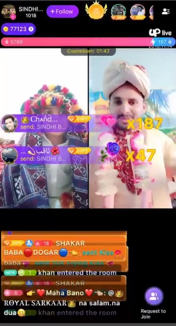 Two Indian hosts are competing for popularity on Uplive