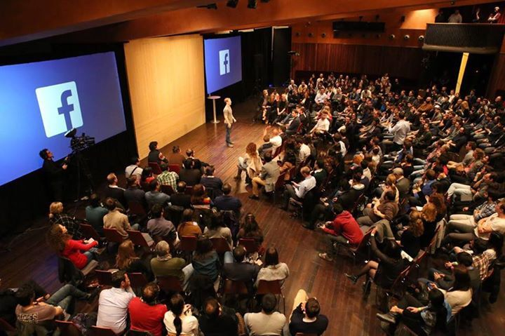 Mark Zuckerberg holding a Facebook town hall event. Image Credit: Facebook