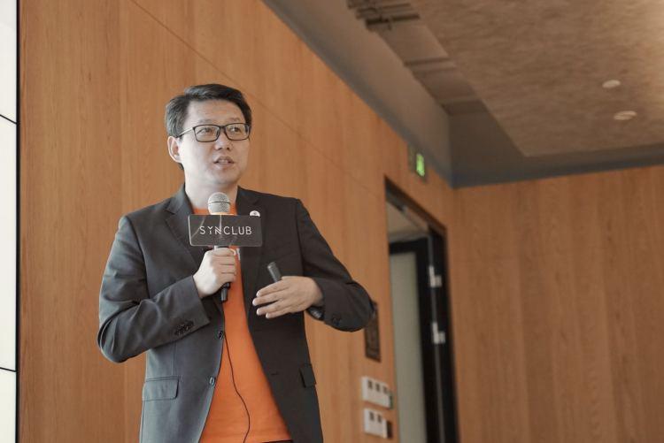Liu Jianghong, Head of Cross-border E-commerce at Shopee, speaking at SYNClub. Image: PINGWEST