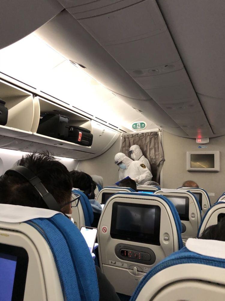 Passengers on Liu's Flight Inspected at Qingdao Airport/Nexus Liu