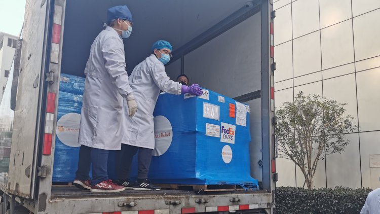 Wuhan medical workers received supplies from Direct Relief