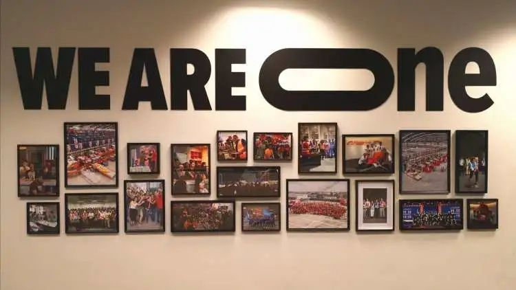 Photo of office decoration taken in Lazada's Singaporean headquarters Credit: PingWest