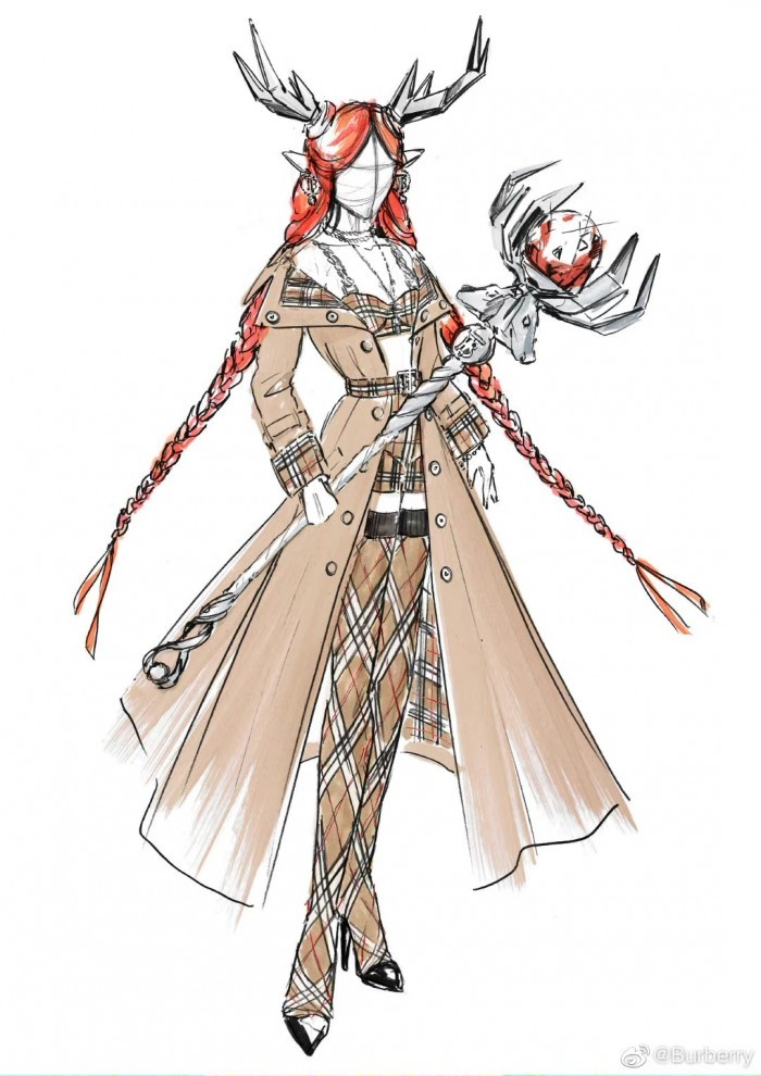 Design sketches for the character