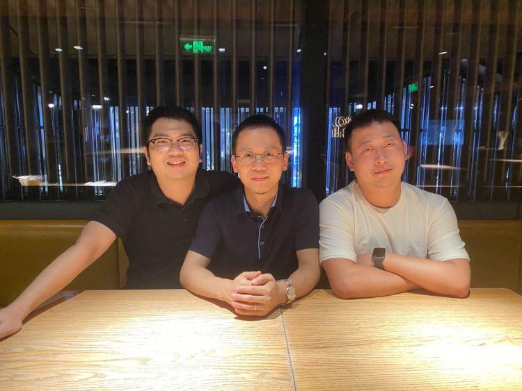 Co-founders of WalletsClub, Zhixiang Xue, Xianru Zeng, and Hang Liu (from left to right)