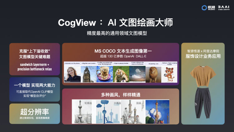 A brief, Chinese introduction of CogView. Image via handout.